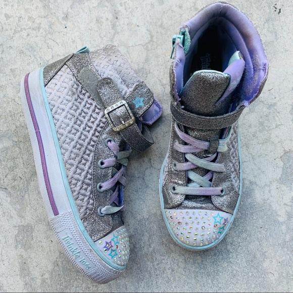 Silver Twinkle Toes Hightop Sneaker